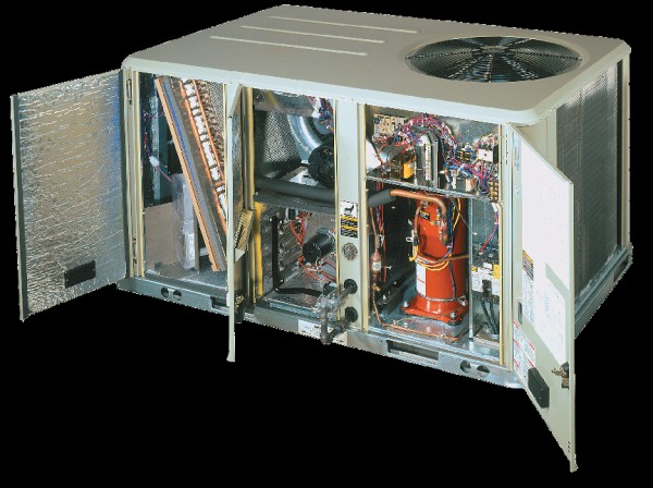 A Cutaway image of a Trane Commercial AC Unit