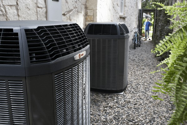Air Conditioning units outside a home
