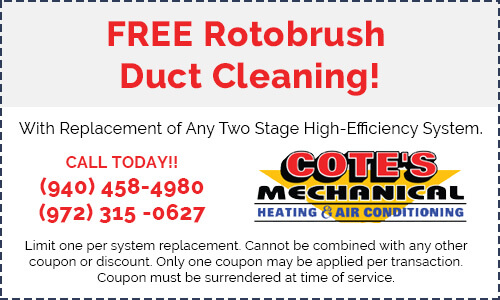 Coupon for free rotobrush duct cleaning