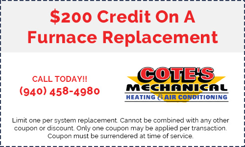 Coupon for a furnace replacement